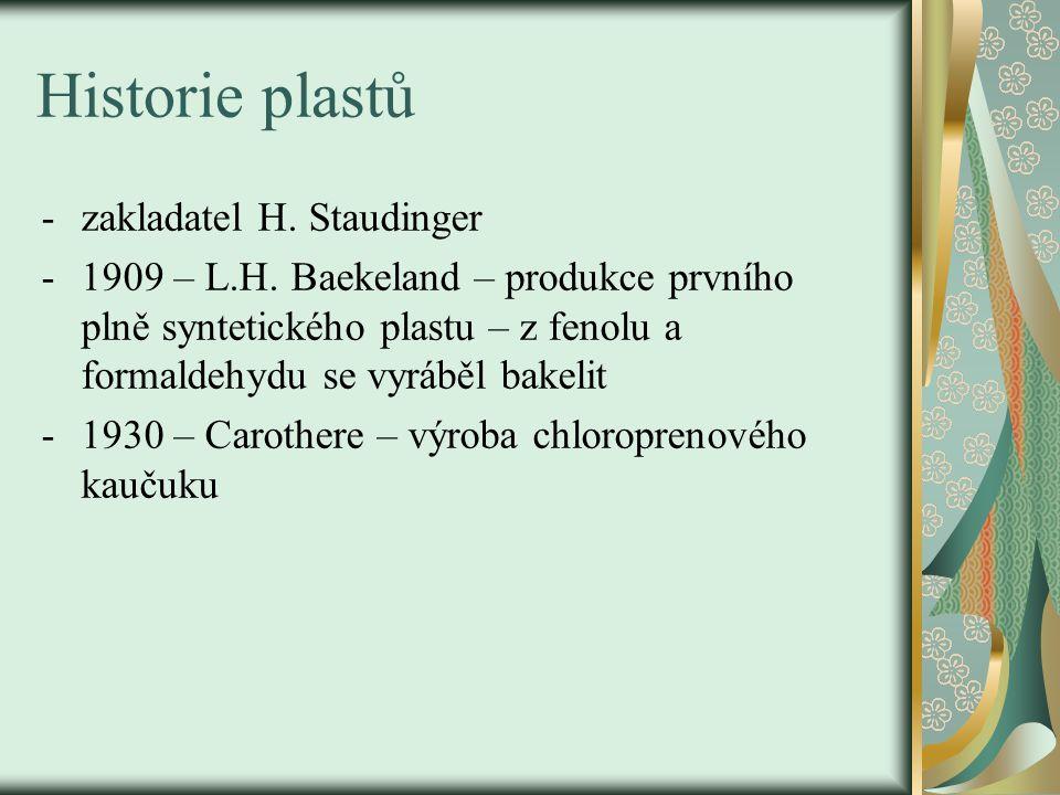Historie plastů zakladatel H. Staudinger