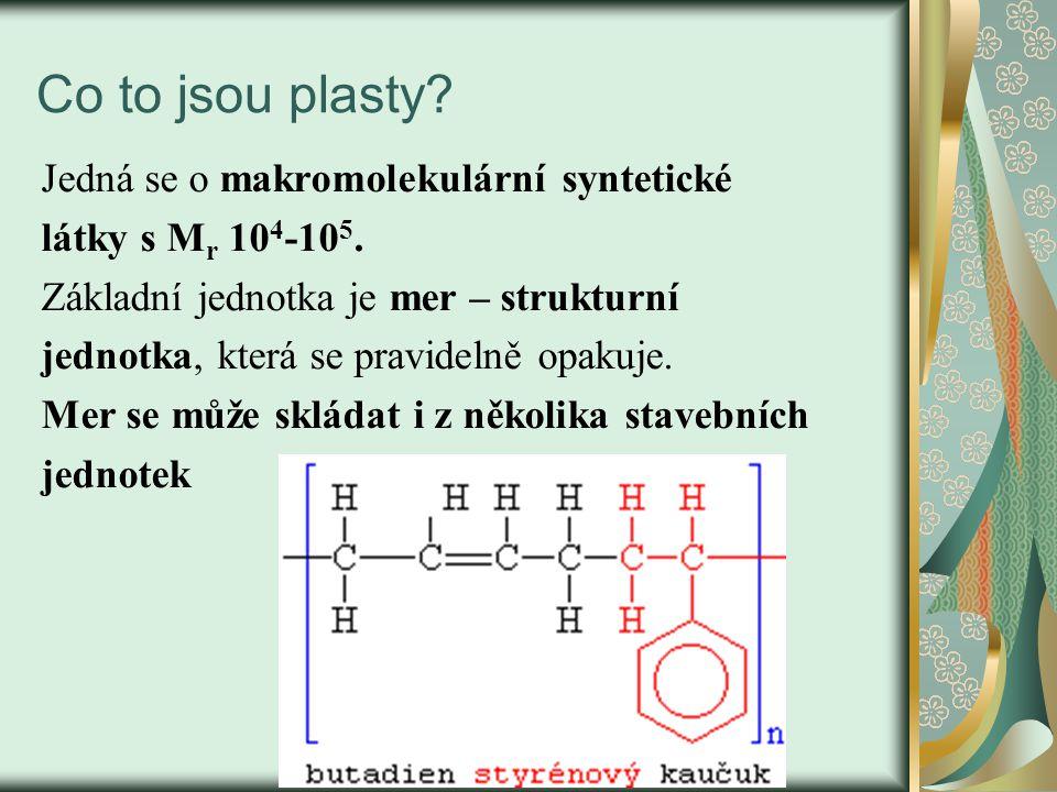 Co to jsou plasty Jedná se o makromolekulární syntetické
