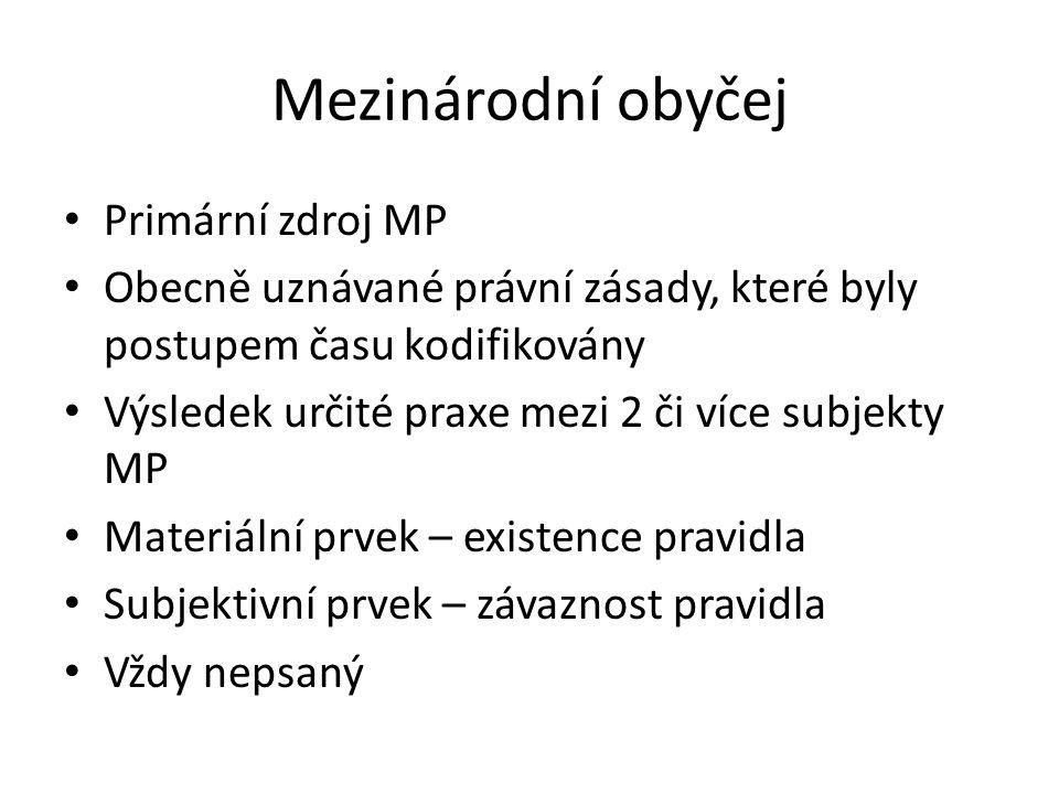 Mezinárodní obyčej Primární zdroj MP
