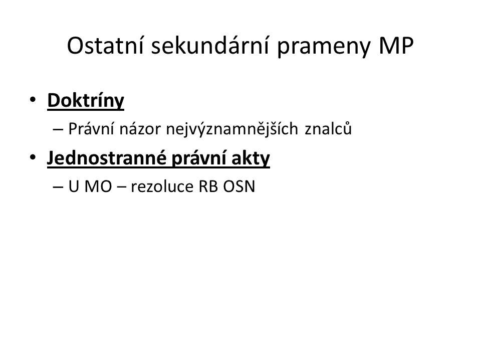 Ostatní sekundární prameny MP