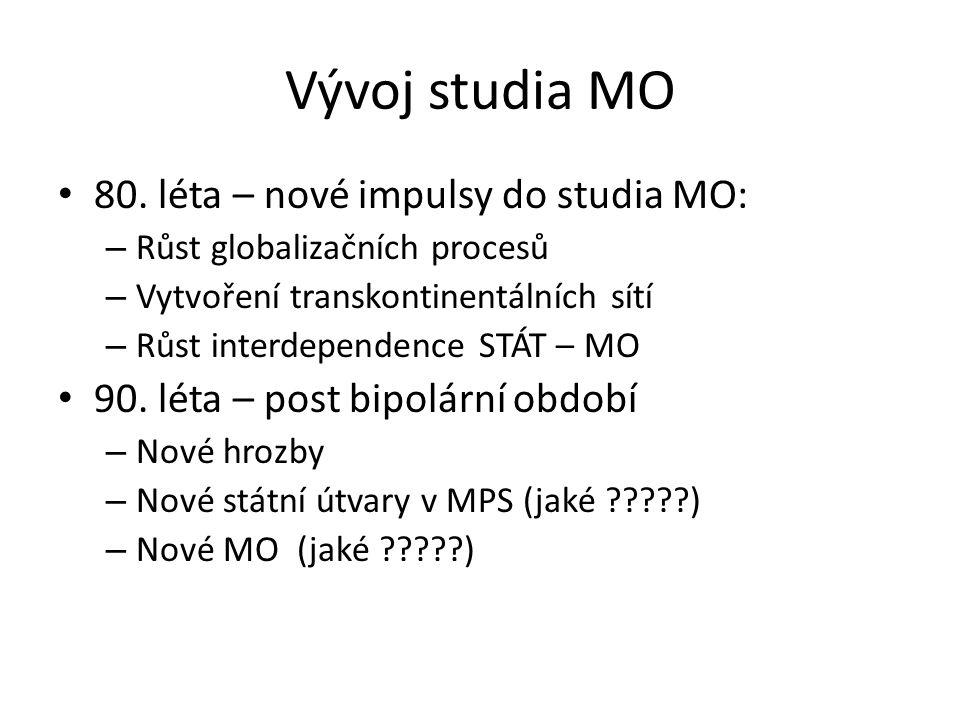 Vývoj studia MO 80. léta – nové impulsy do studia MO: