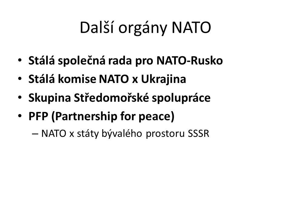 Další orgány NATO Stálá společná rada pro NATO-Rusko