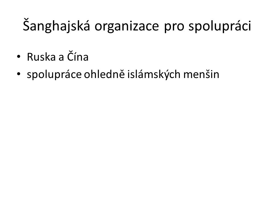 Šanghajská organizace pro spolupráci
