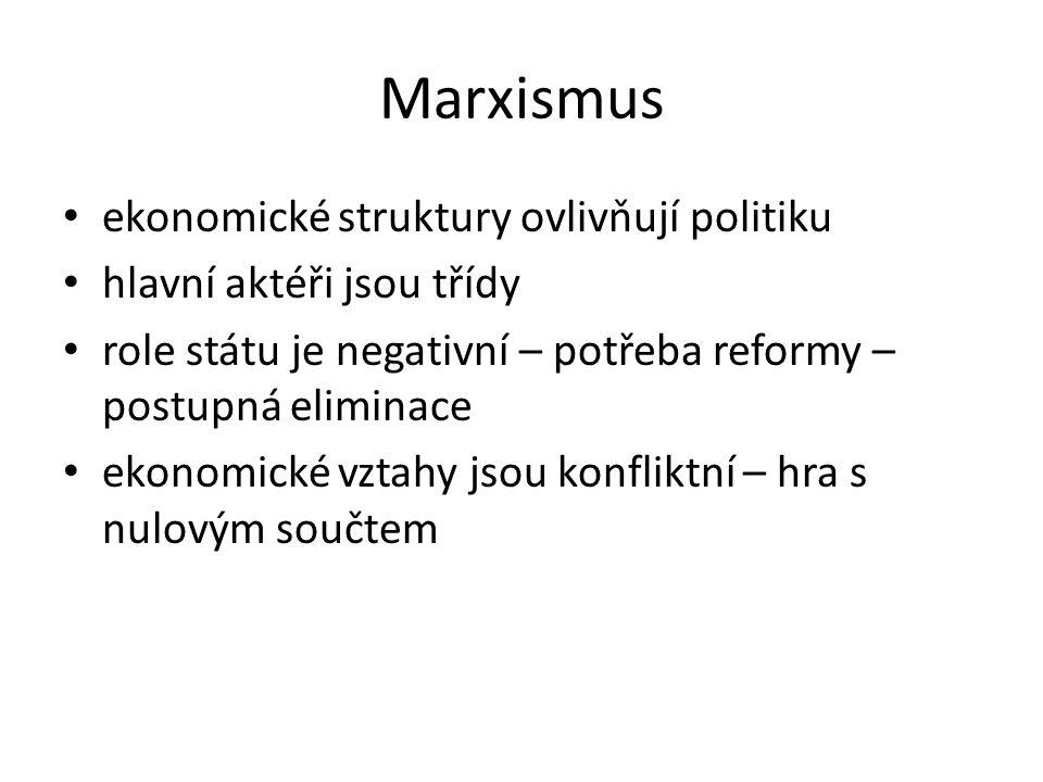 Marxismus ekonomické struktury ovlivňují politiku