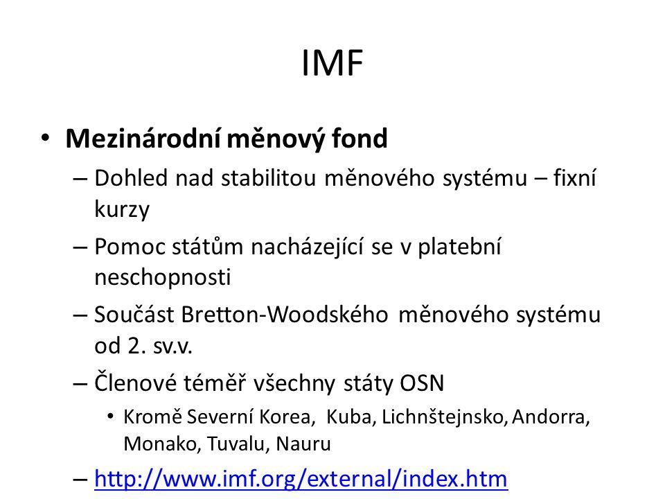 IMF Mezinárodní měnový fond