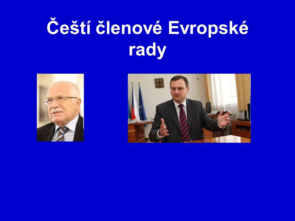 Čeští členové Evropské rady