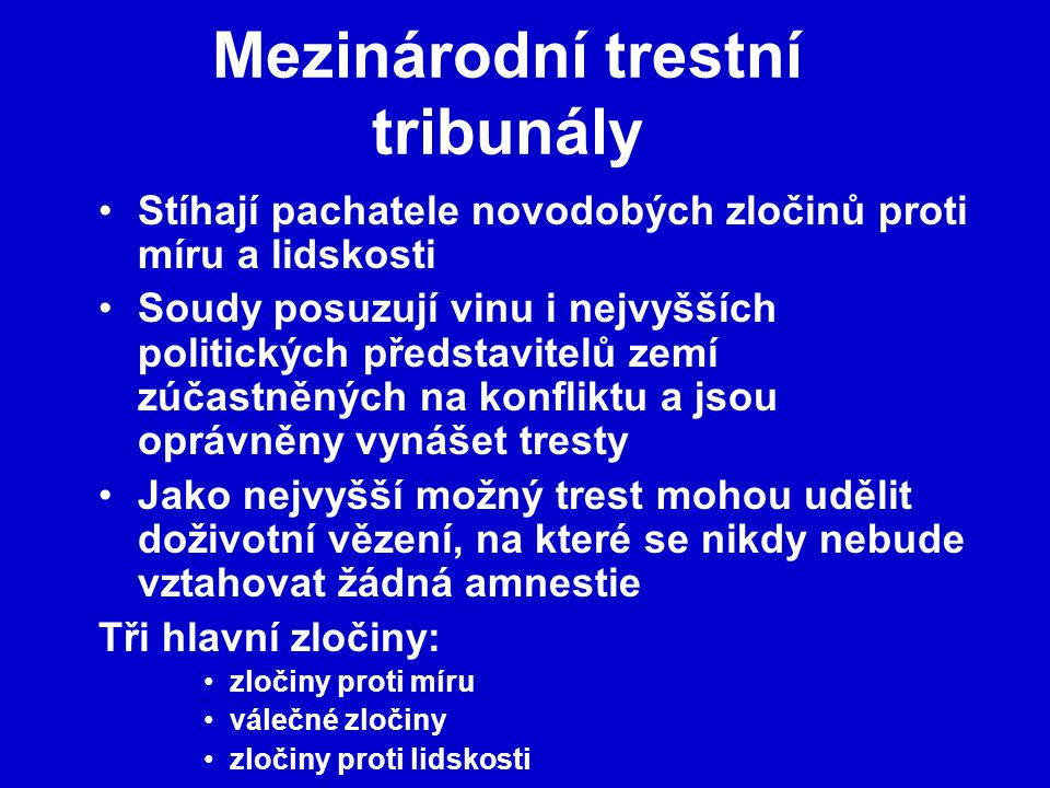 Mezinárodní trestní tribunály