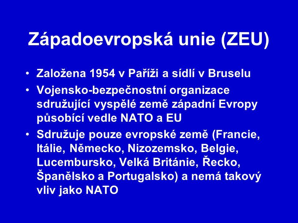 Západoevropská unie (ZEU)