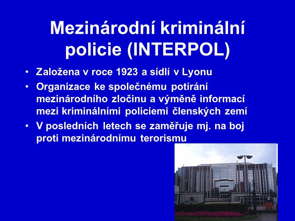 Mezinárodní kriminální policie (INTERPOL)