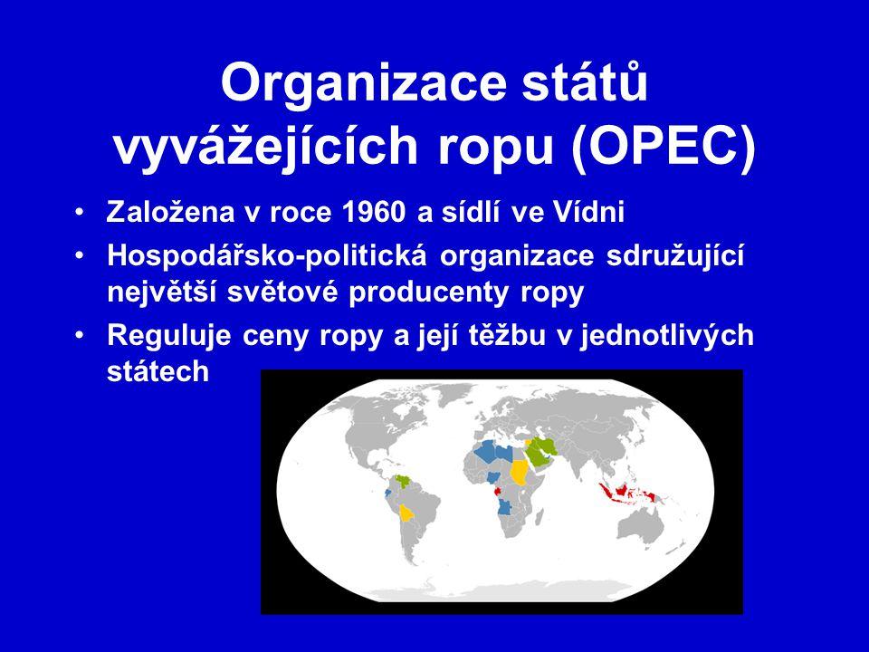 Organizace států vyvážejících ropu (OPEC)