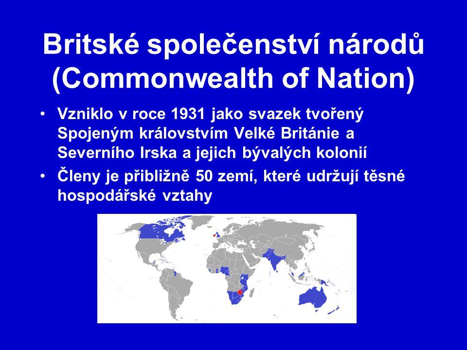 Britské společenství národů (Commonwealth of Nation)