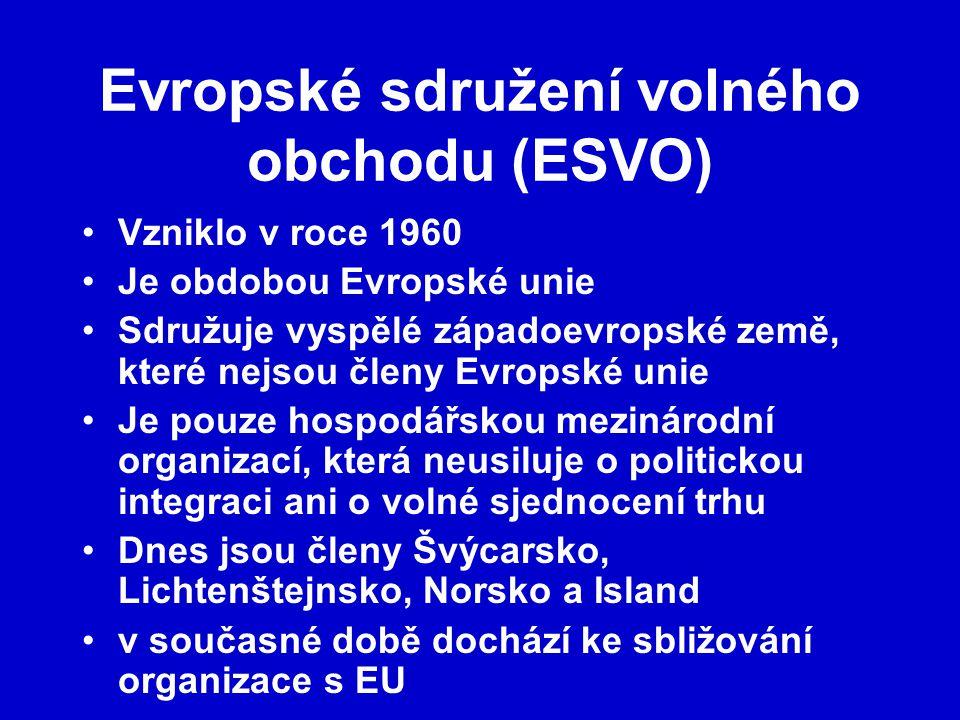 Evropské sdružení volného obchodu (ESVO)