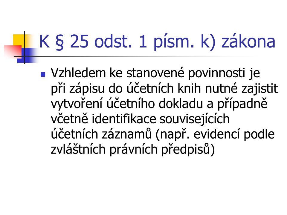 K § 25 odst. 1 písm. k) zákona