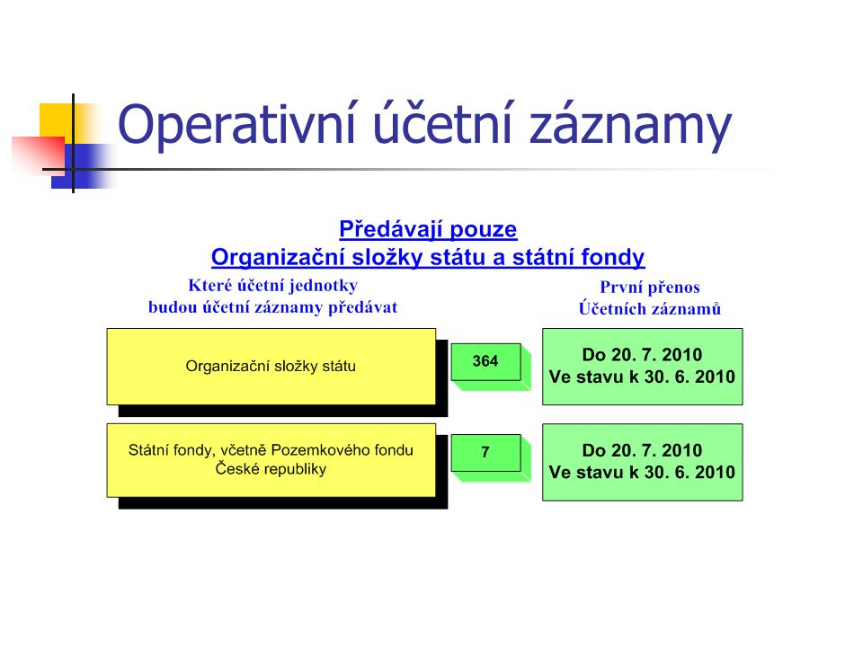 Operativní účetní záznamy