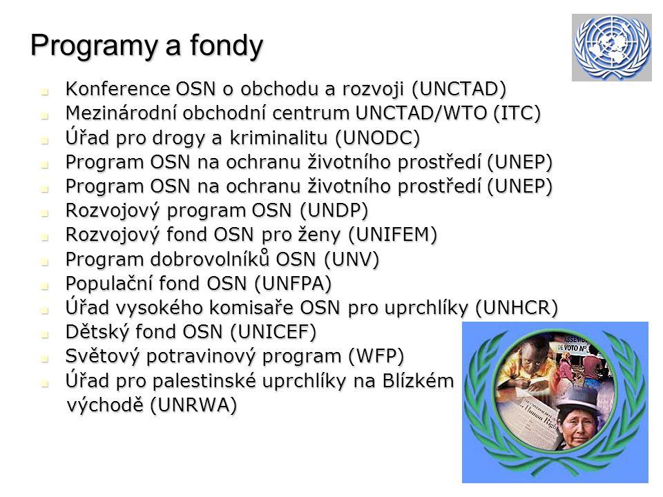 Programy a fondy Konference OSN o obchodu a rozvoji (UNCTAD)