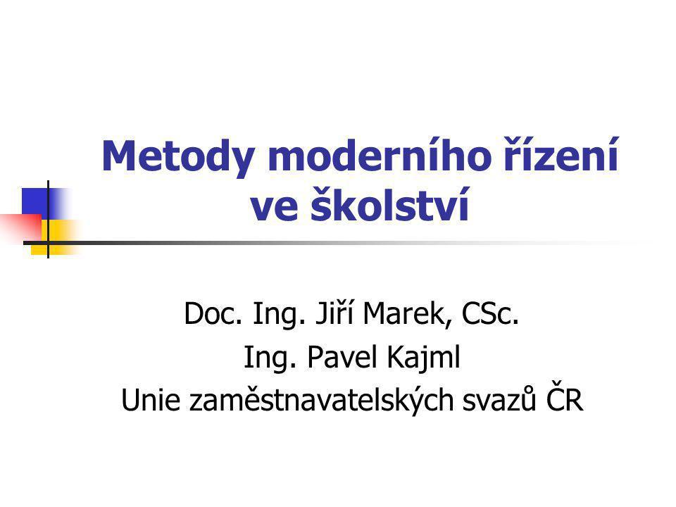 Metody moderního řízení ve školství