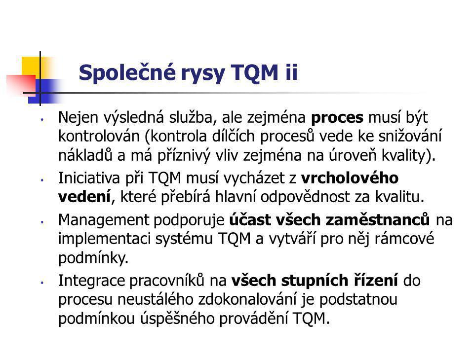 Společné rysy TQM ii