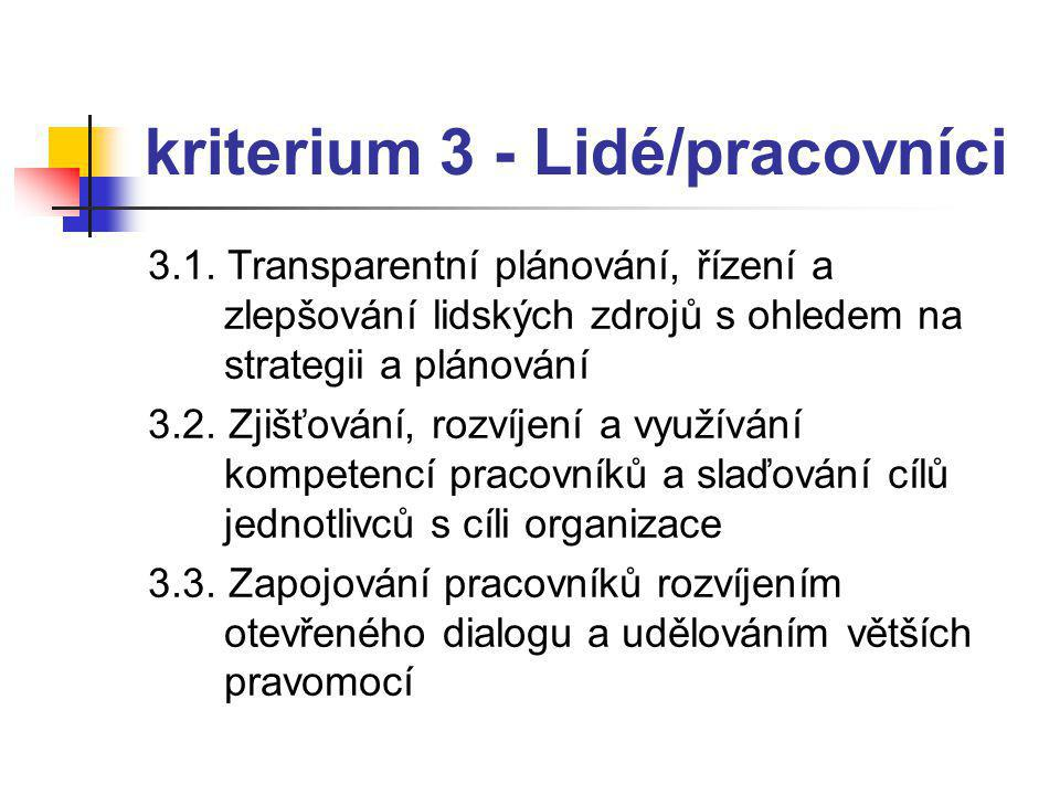 kriterium 3 - Lidé/pracovníci
