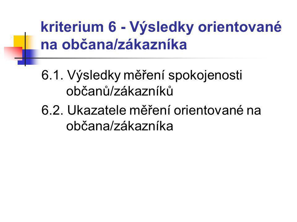 kriterium 6 - Výsledky orientované na občana/zákazníka