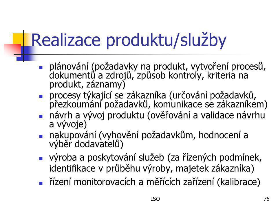 Realizace produktu/služby