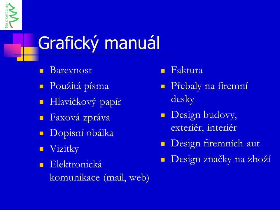Grafický manuál Barevnost Použitá písma Hlavičkový papír Faxová zpráva