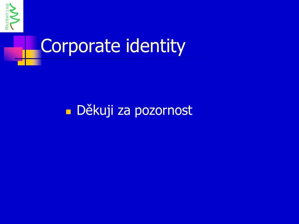Corporate identity Děkuji za pozornost