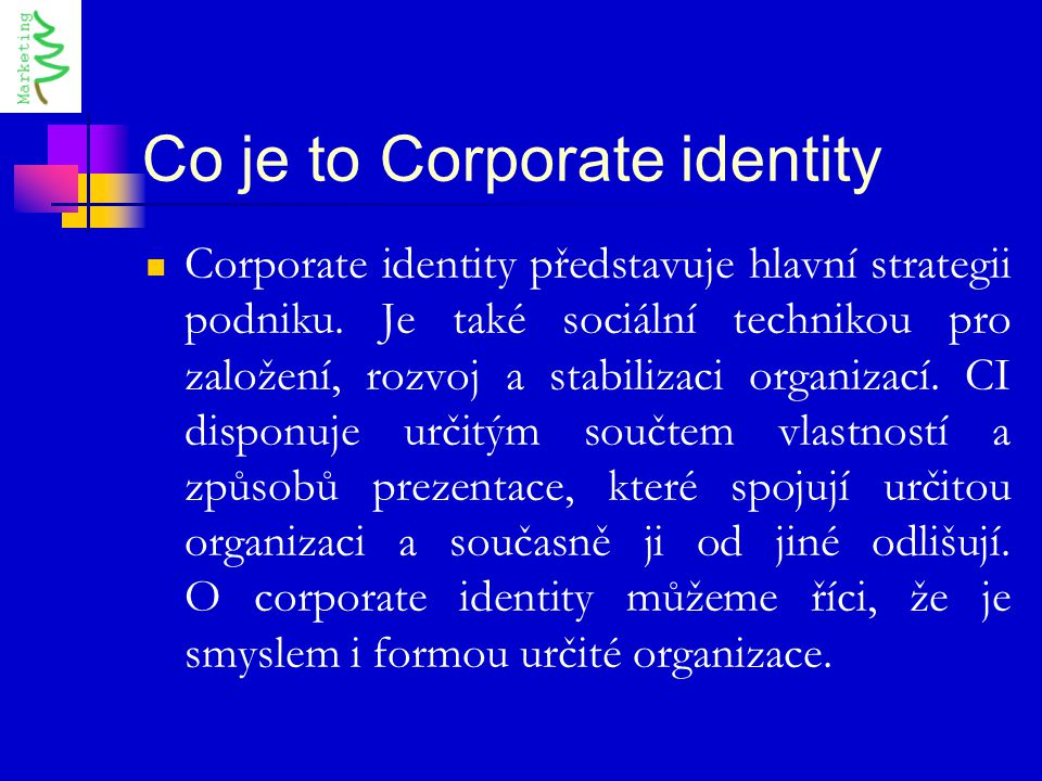 Co je to Corporate identity
