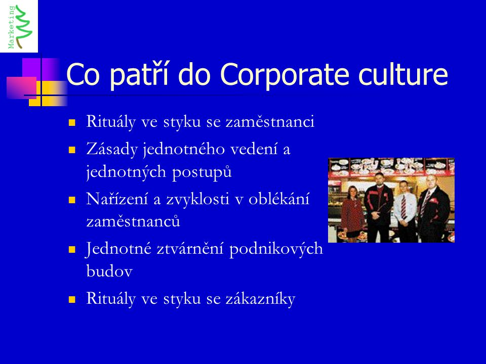 Co patří do Corporate culture