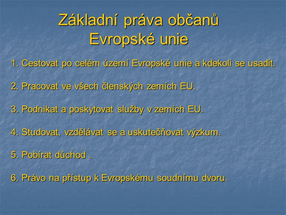 Základní práva občanů Evropské unie