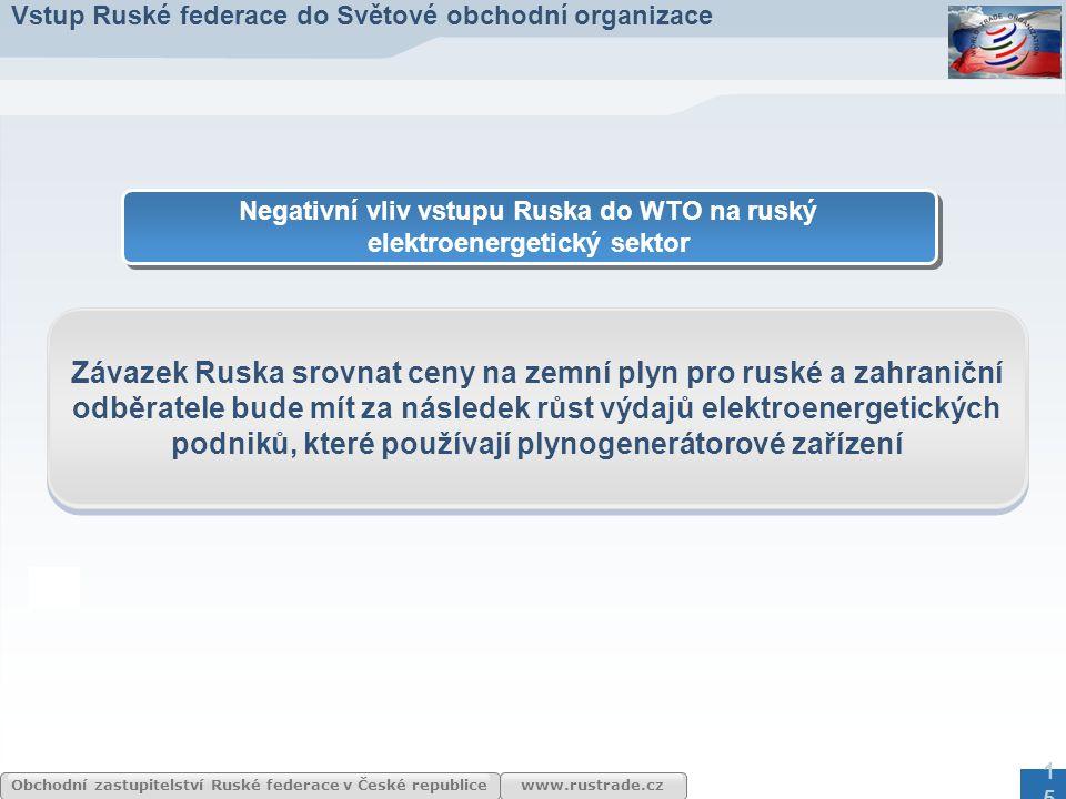 Negativní vliv vstupu Ruska do WTO na ruský elektroenergetický sektor