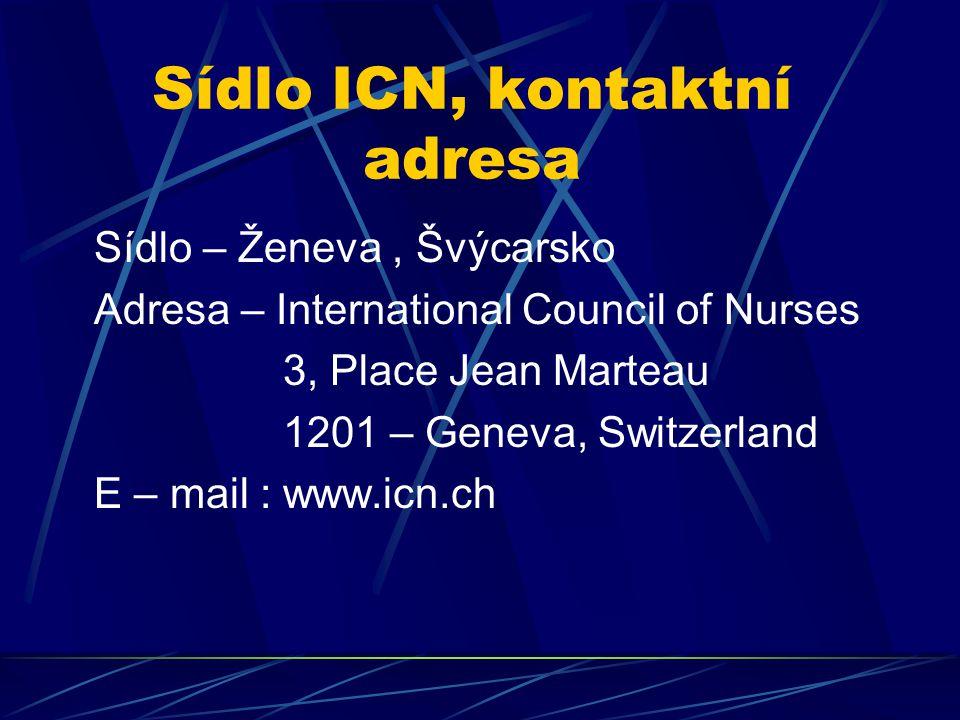 Sídlo ICN, kontaktní adresa
