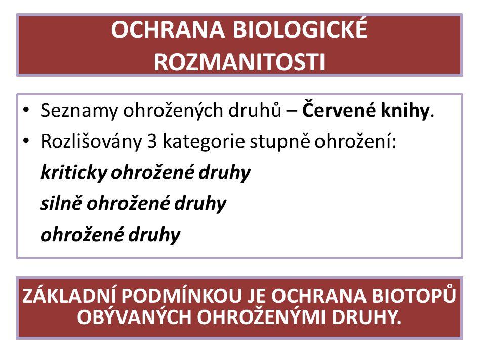 OCHRANA BIOLOGICKÉ ROZMANITOSTI