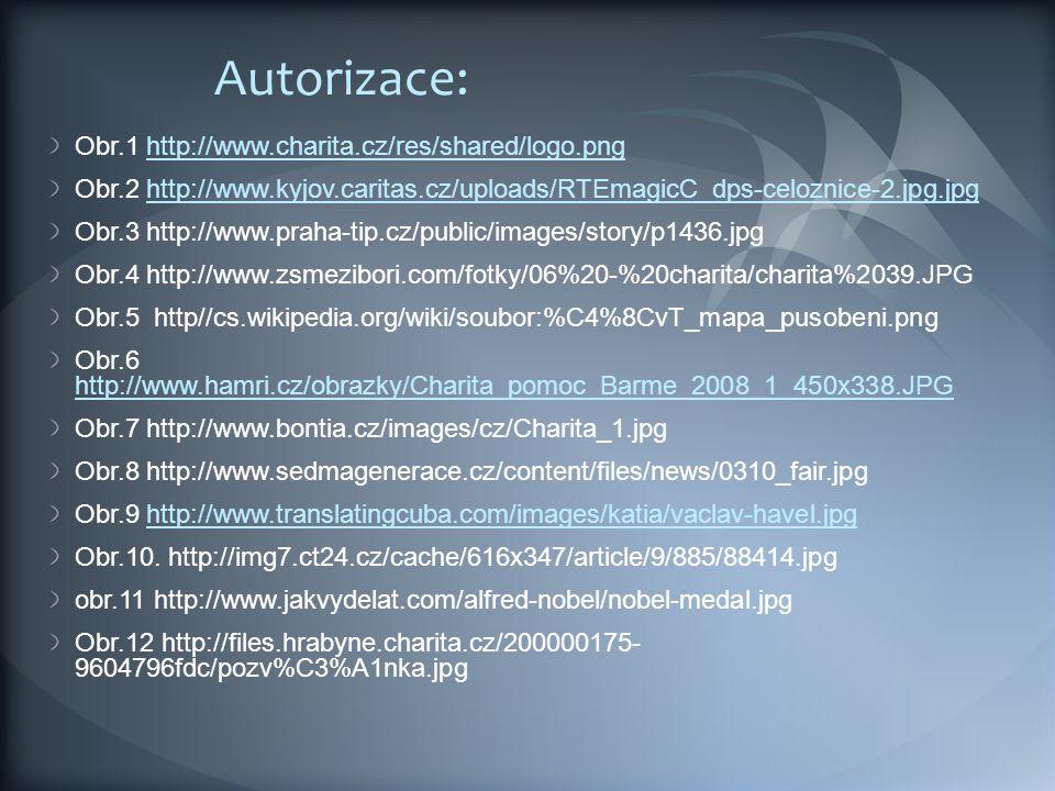 Autorizace: Obr.1 http://www.charita.cz/res/shared/logo.png
