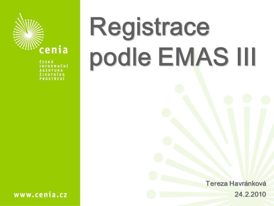Registrace podle EMAS III
