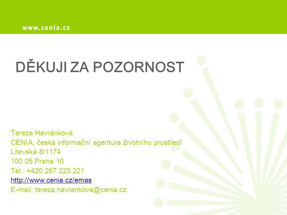 DĚKUJI ZA POZORNOST Tereza Havránková