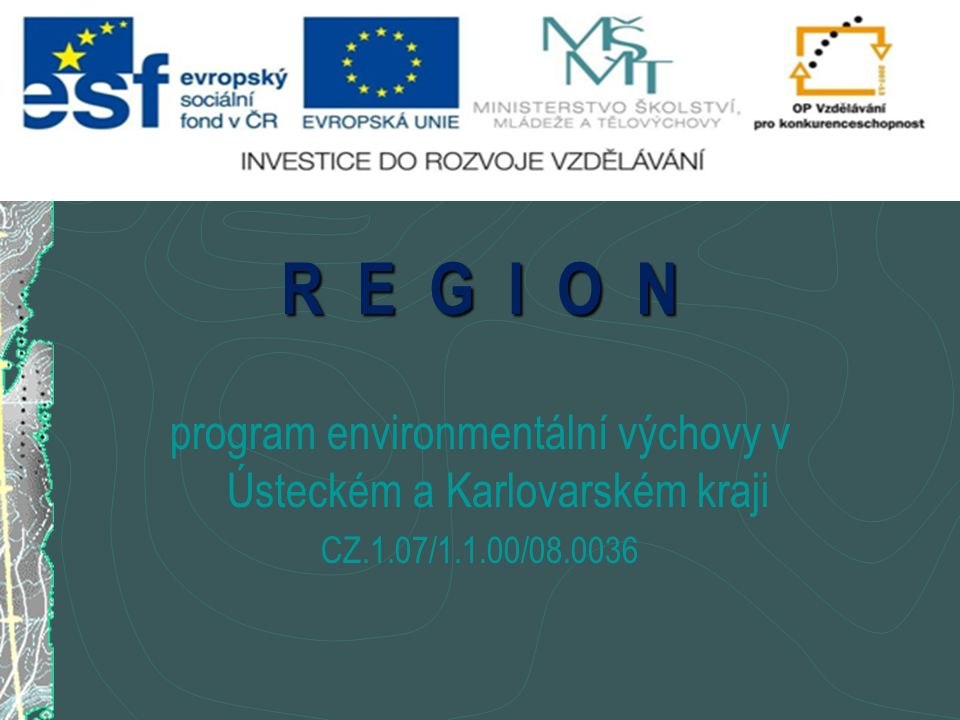 program environmentální výchovy v Ústeckém a Karlovarském kraji