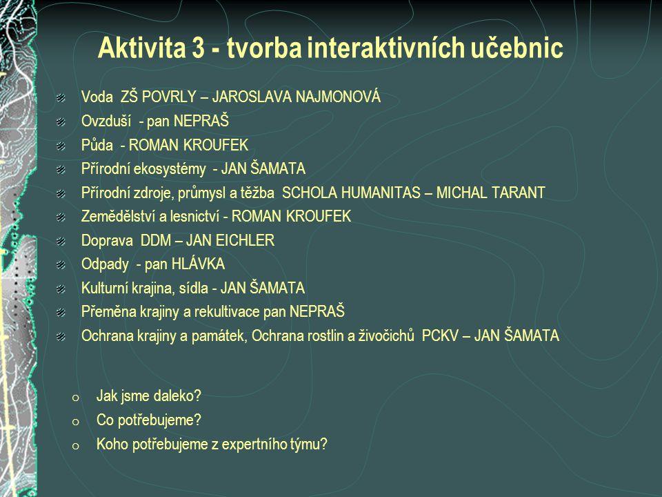 Aktivita 3 - tvorba interaktivních učebnic