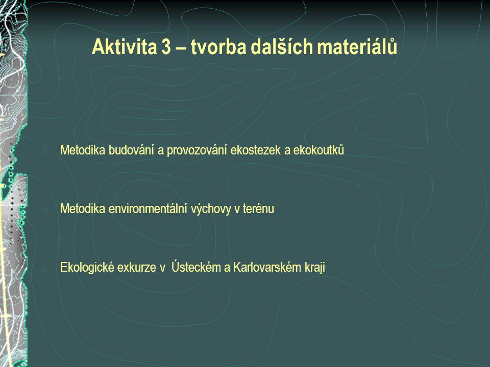 Aktivita 3 – tvorba dalších materiálů
