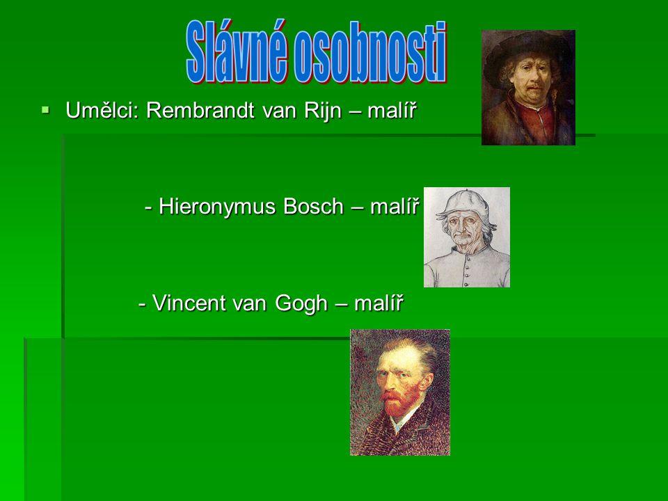 Slávné osobnosti Umělci: Rembrandt van Rijn – malíř