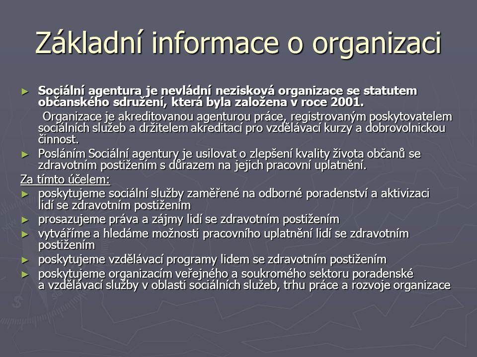 Základní informace o organizaci