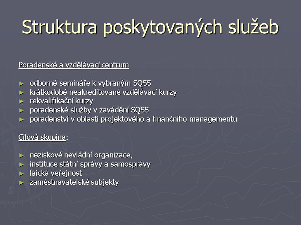 Struktura poskytovaných služeb