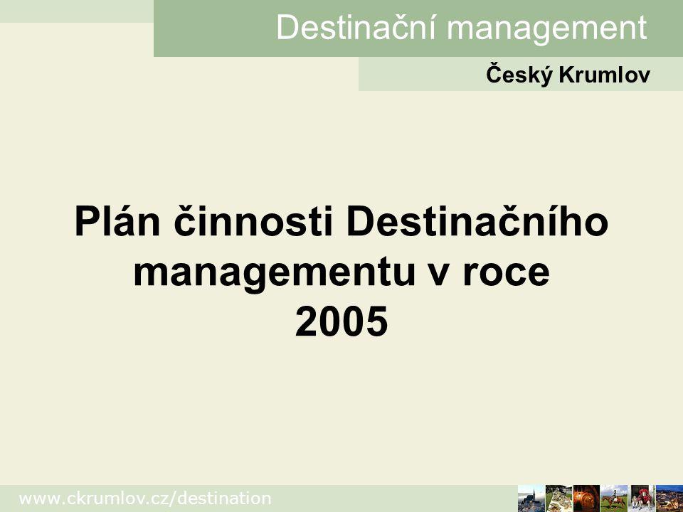 Plán činnosti Destinačního managementu v roce