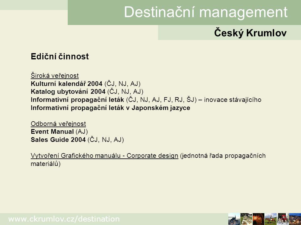 Destinační management