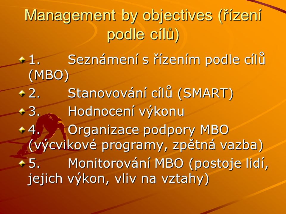Management by objectives (řízení podle cílů)