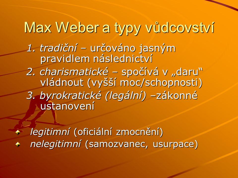 Max Weber a typy vůdcovství