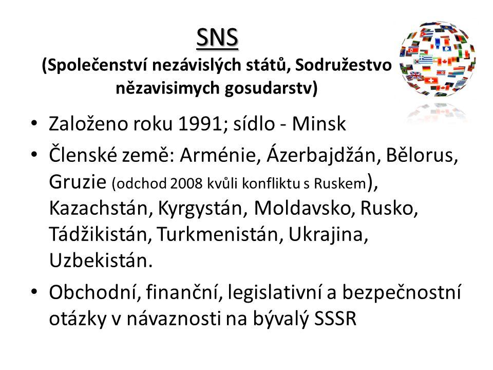 SNS (Společenství nezávislých států, Sodružestvo nězavisimych gosudarstv)