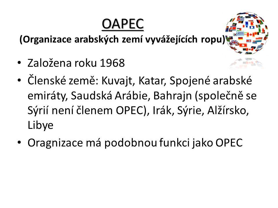 OAPEC (Organizace arabských zemí vyvážejících ropu)