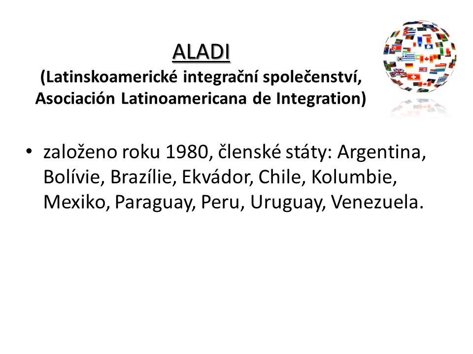 ALADI (Latinskoamerické integrační společenství, Asociación Latinoamericana de Integration)