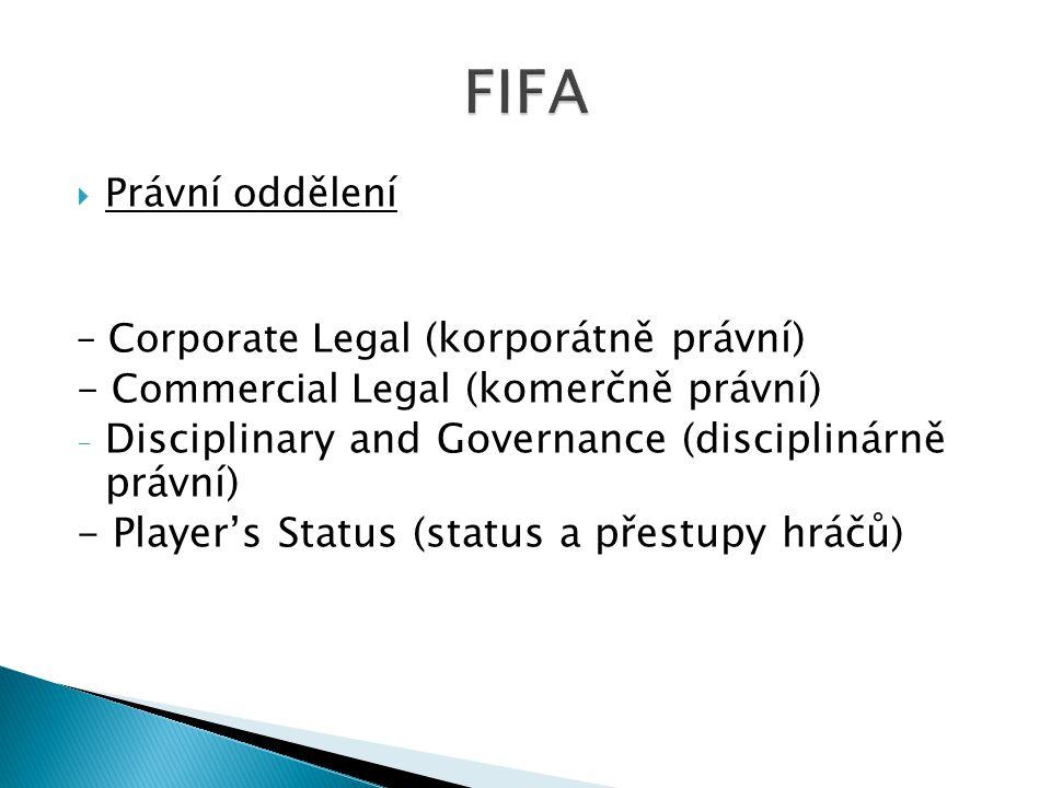 FIFA Disciplinary and Governance (disciplinárně právní)