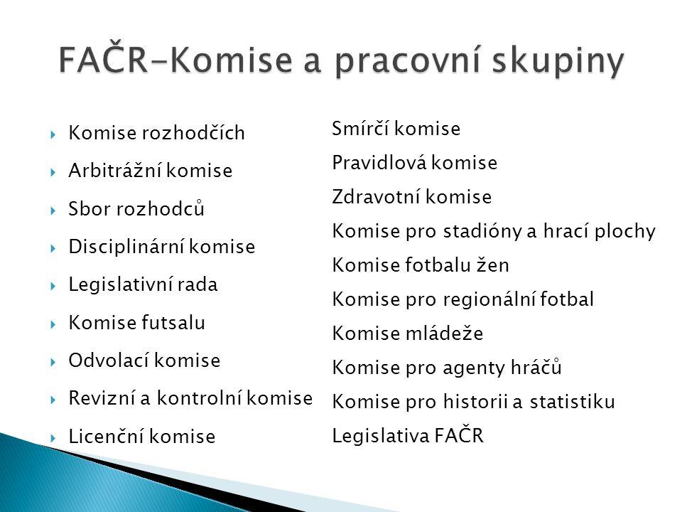 FAČR-Komise a pracovní skupiny